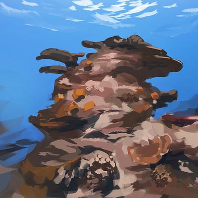 Madeleine bellwoar coral reef speedpaint 40 mins