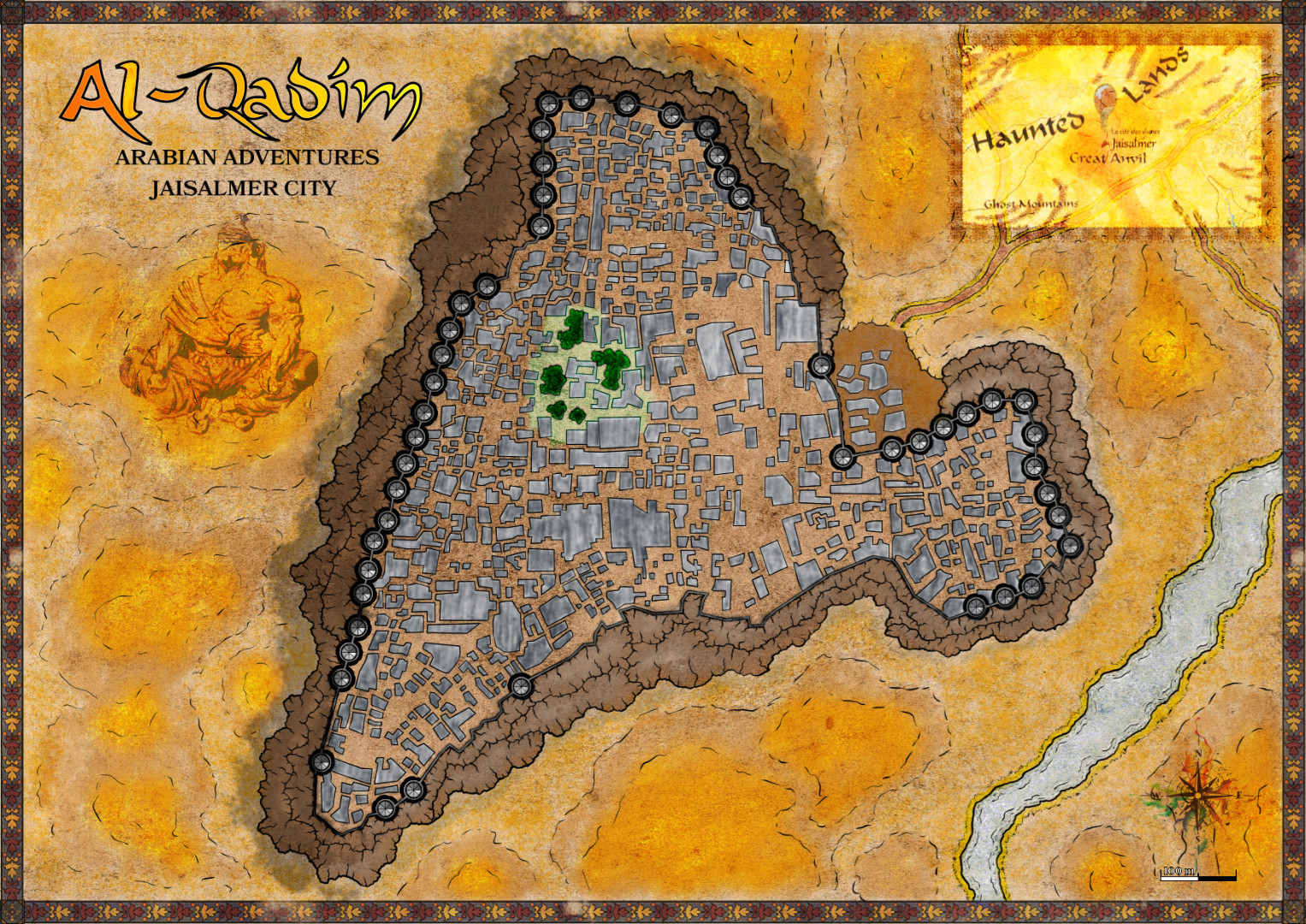 Jaisalmer - CIty in the desert from AD&D2 Al Qadim Universe