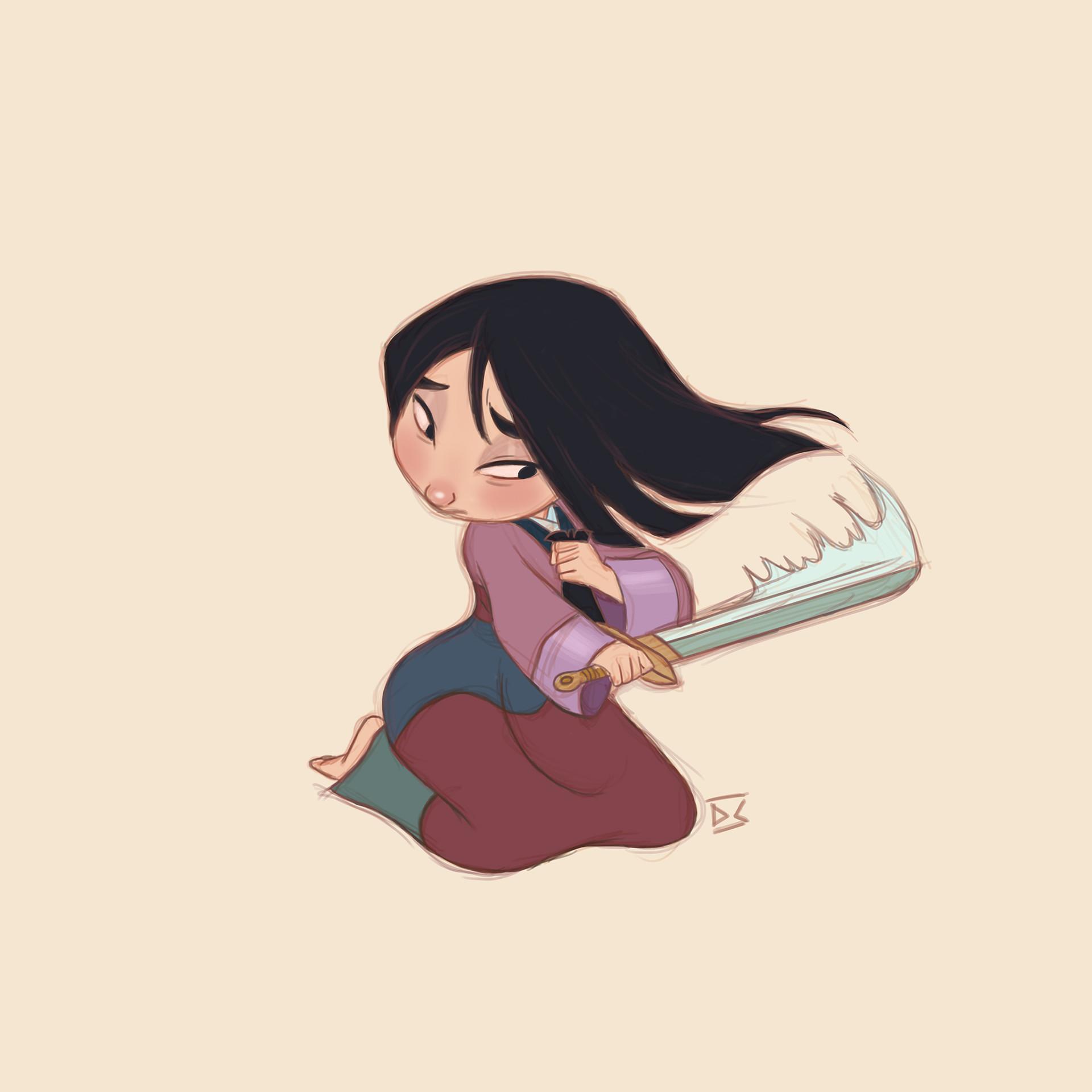 ArtStation , Mulan cut hair., Di Cardoso