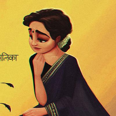 Arjun somasekharan lady n peacock2 2