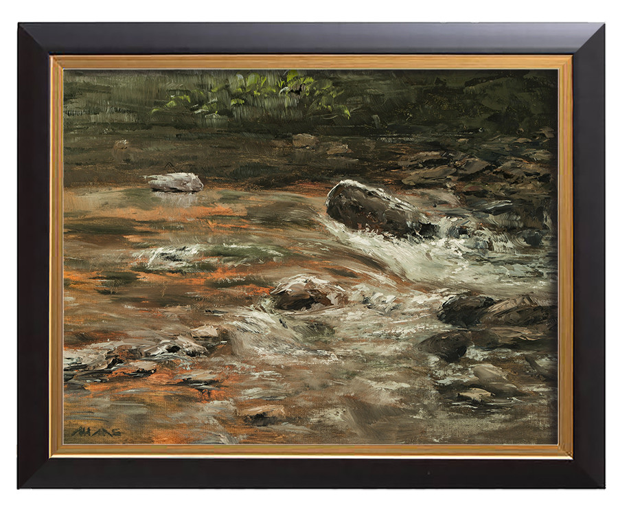 Arthur haas waterfall iiib framed small