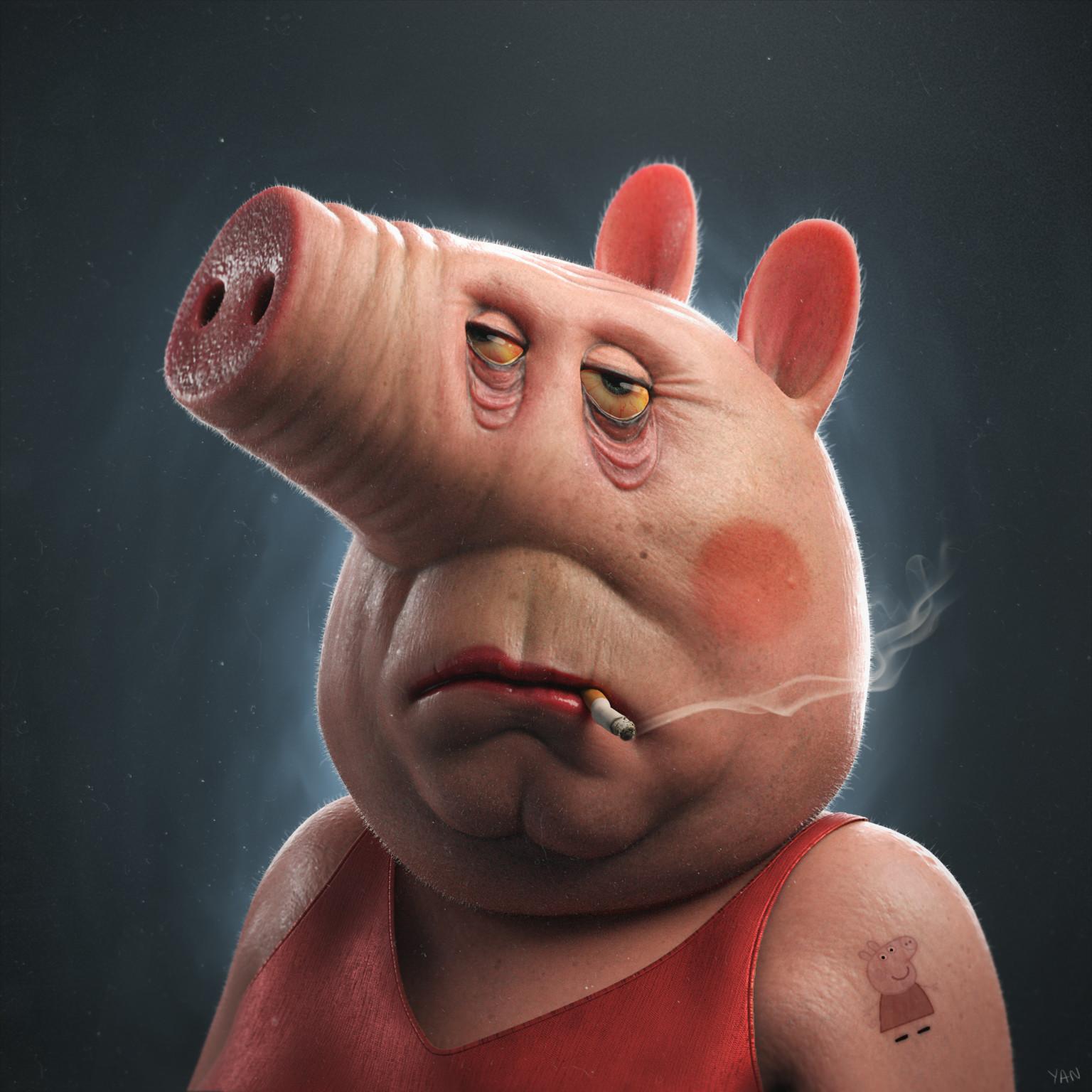 Artstation Peppa Pig Yan Blanco