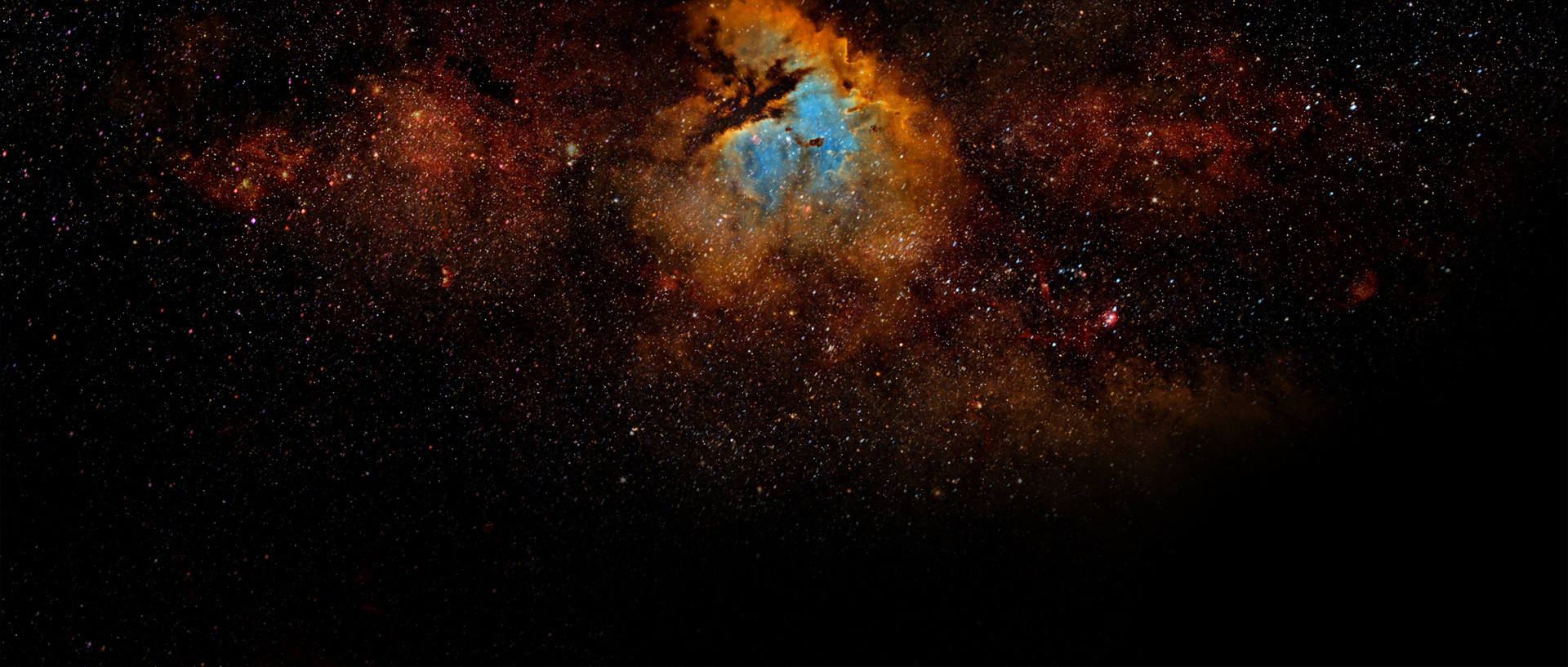 nebula painting for the background