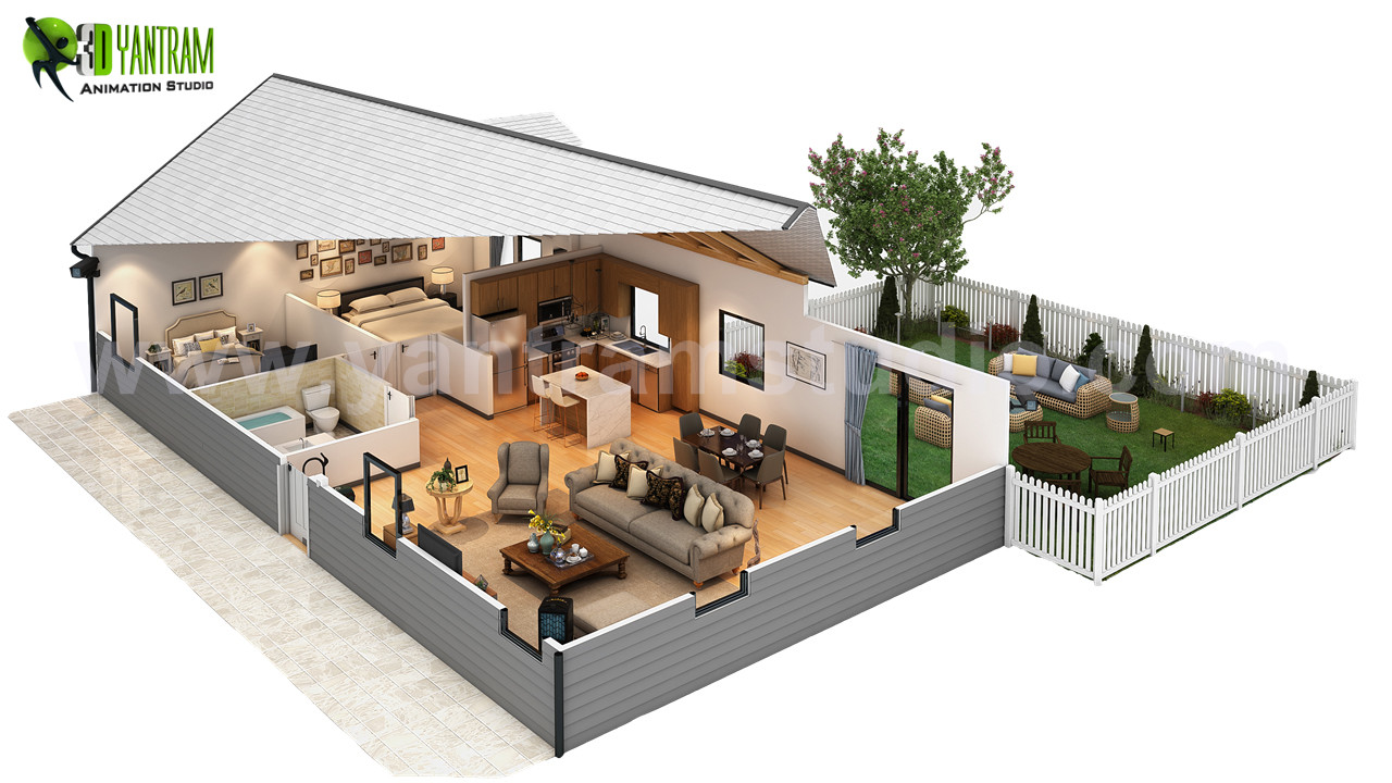 Innovative cut section of small home design ideas by yantram 3d floor design vancouver canada