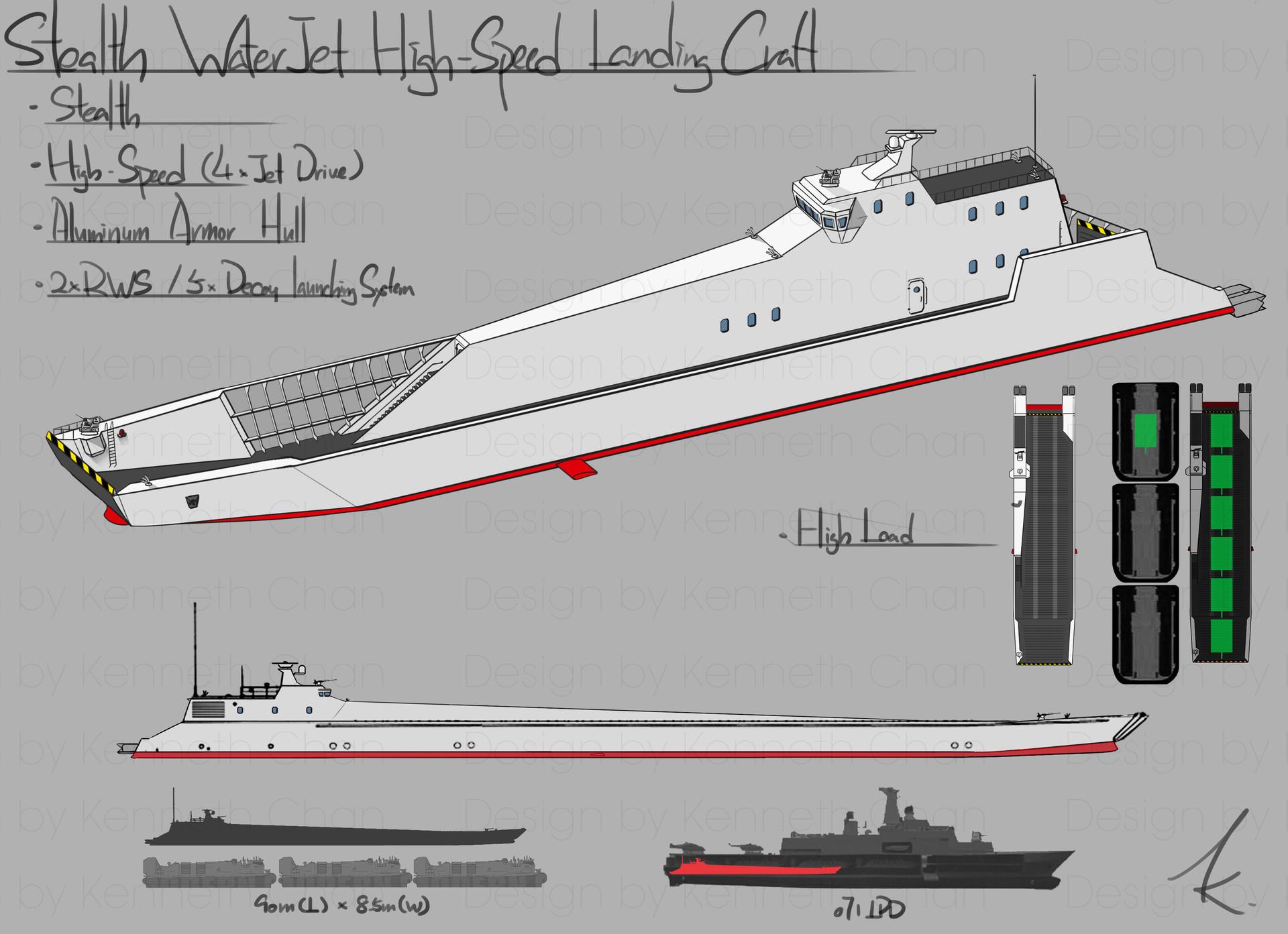 Stealth WaterJet High-Speed Landing Craft