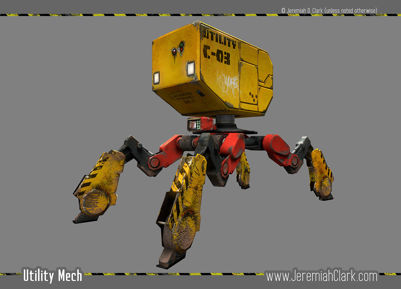 Utility Mech - Capture from Marmoset Toolbag 2