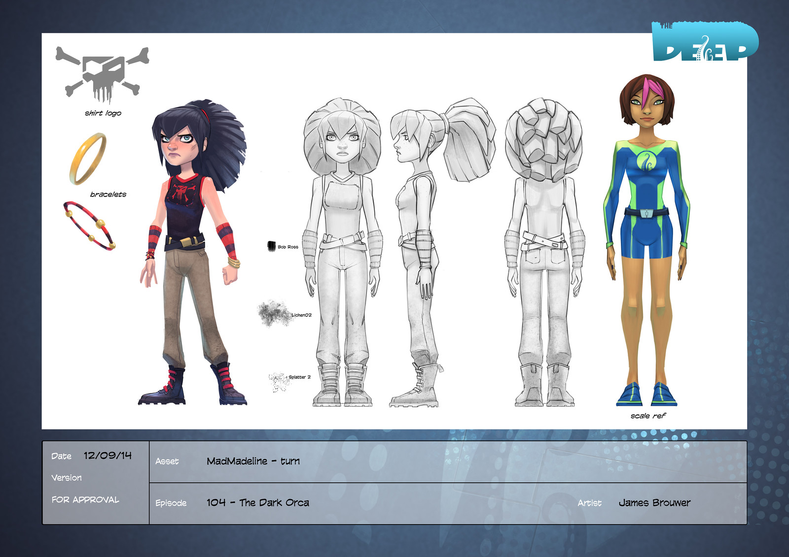 Final character design for Mad Madeline.