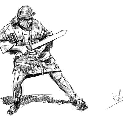 Mateusz michalski knigh sketch daily10