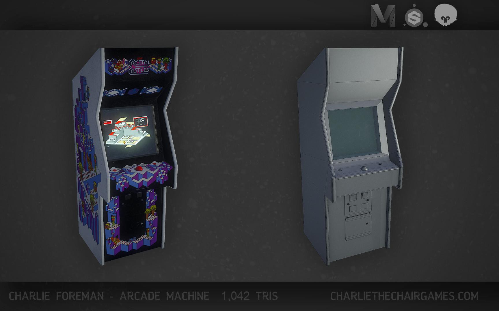 Charlie foreman arcade machine render