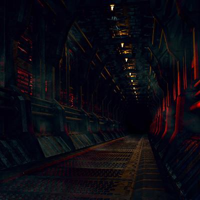 Bruno cerkvenik scifi corridor