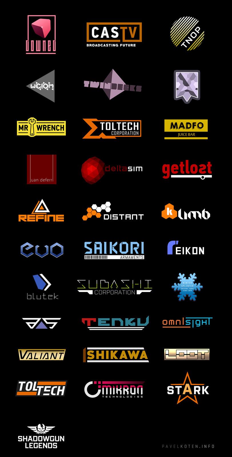 In-game logos & branding.