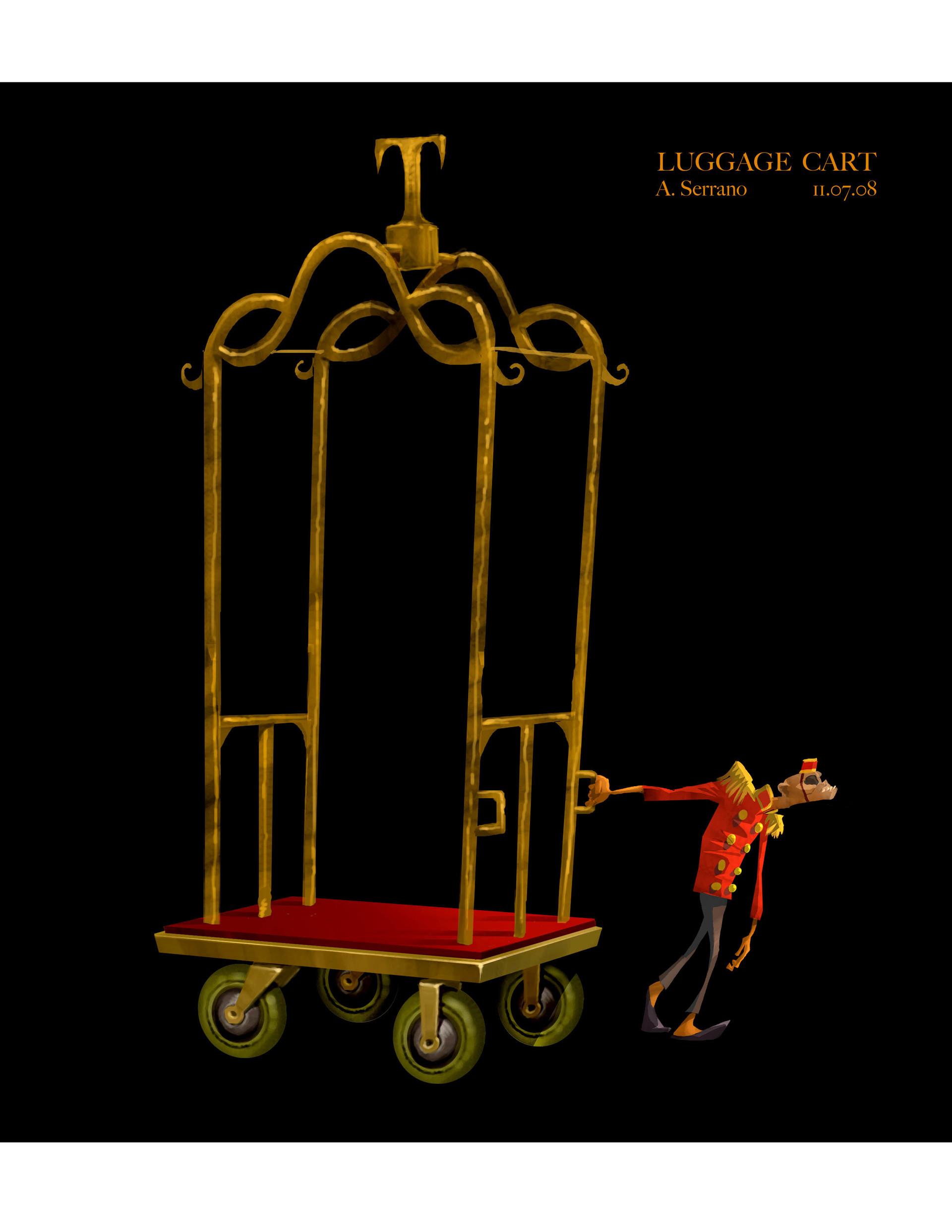 bell boy and cart