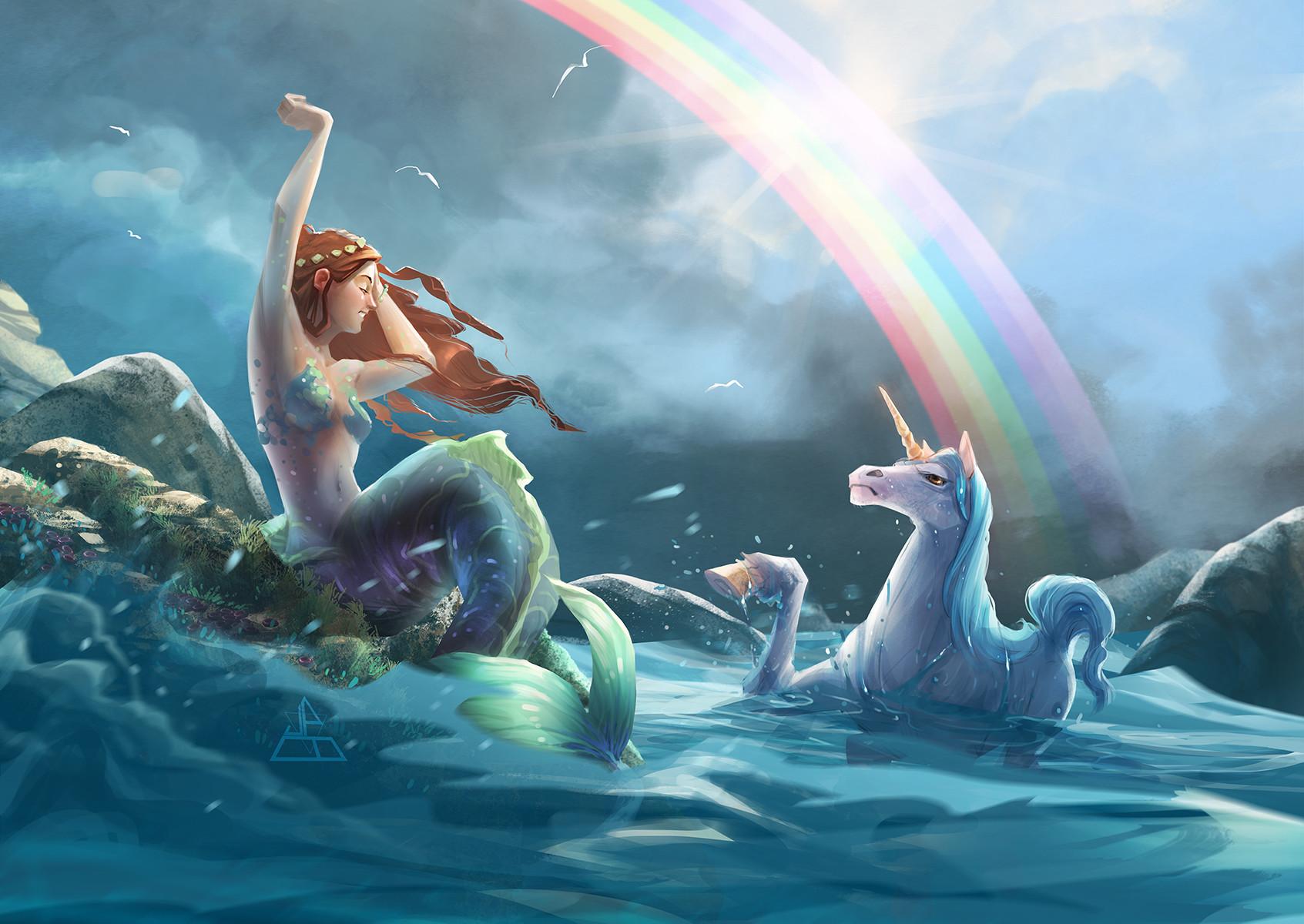 James brouwer mermaid unicorn