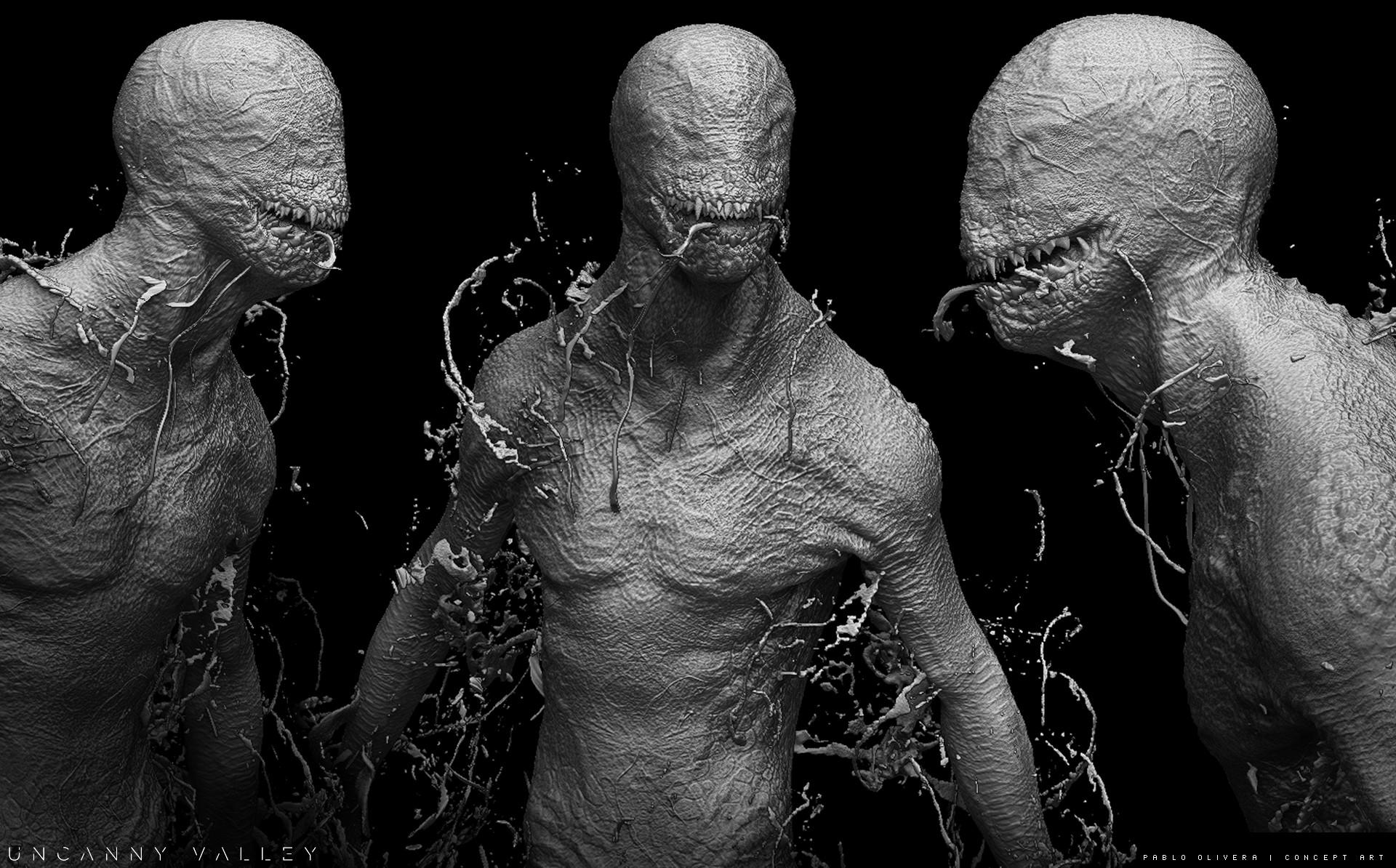 Pablo olivera alien renders concept art digital sculpt 07