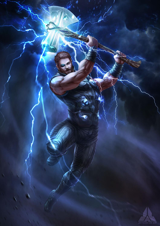 artstation - avengers : infinity war - thor, jaynorn lin