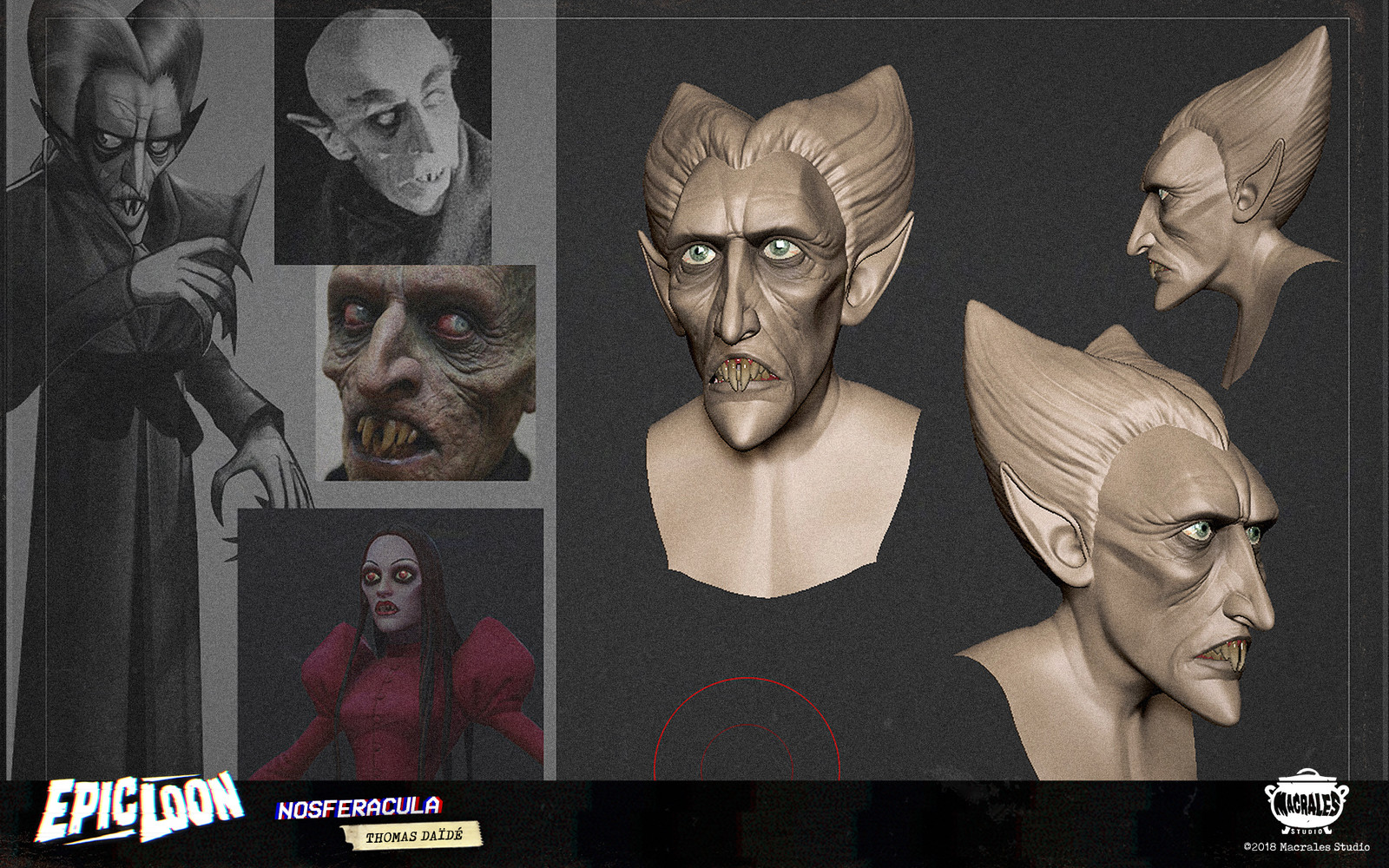 Zbrush Sculpt + Concept and references