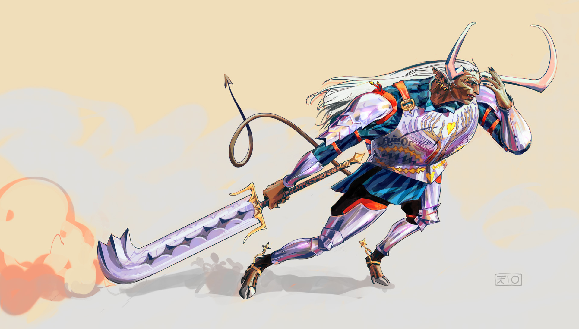 Korina hunjak horned drunk imp warrior small