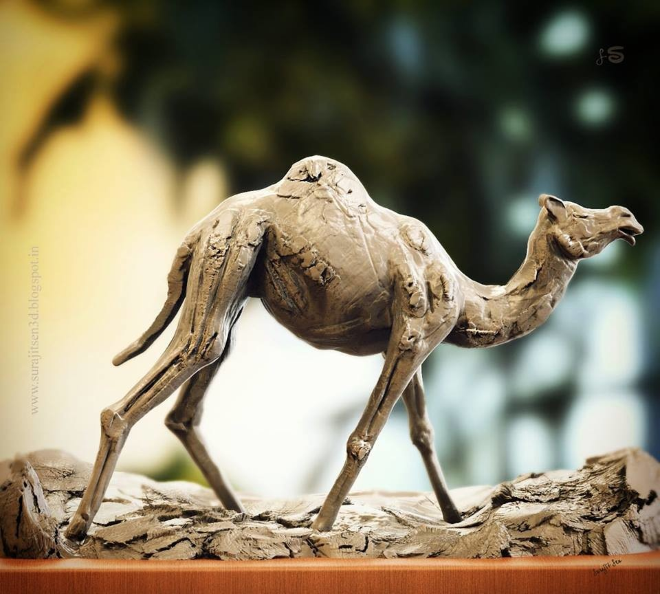 #doodle #quickblocking #study   Tried to make a basic form of #camel. Played with clay and tools!  Wish to share.