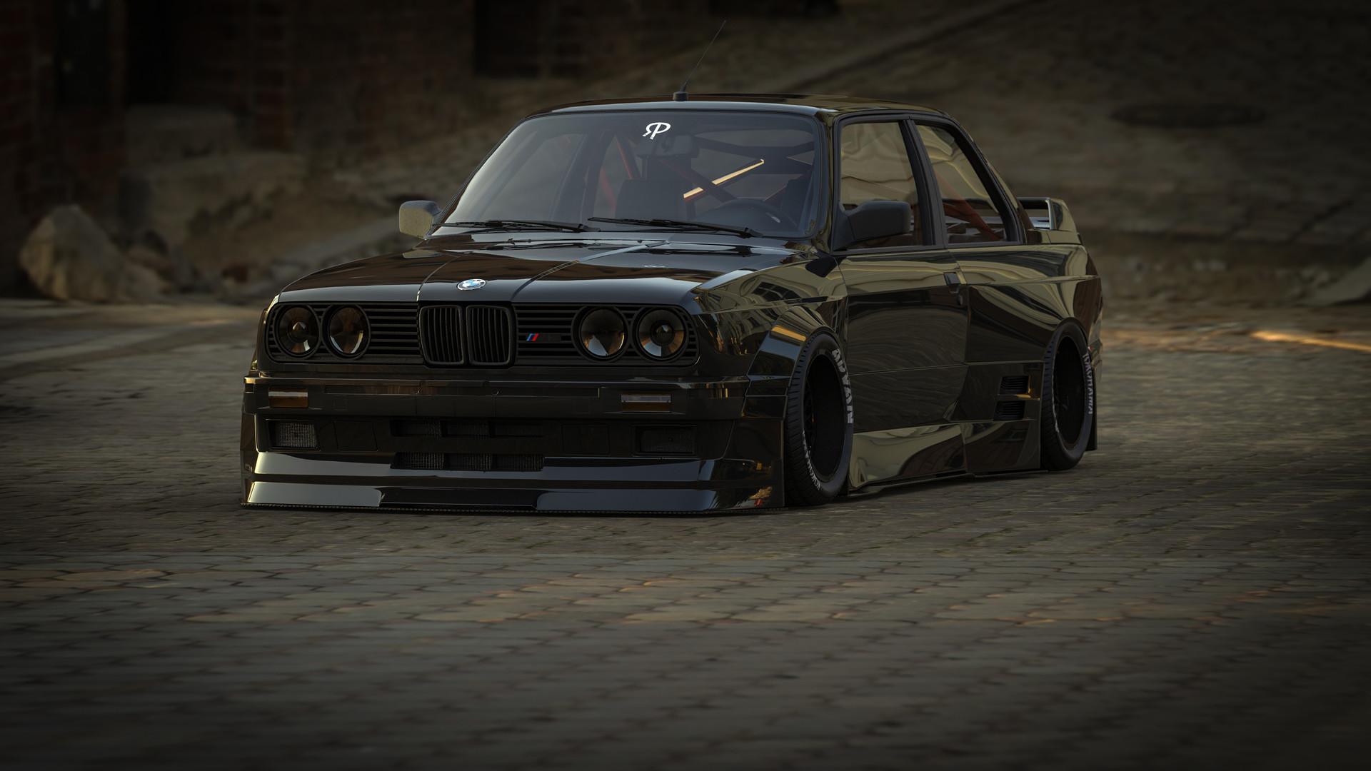 BMW M3 E30 >> ArtStation - BMW E30 M3 Black , Rostislav Prokop