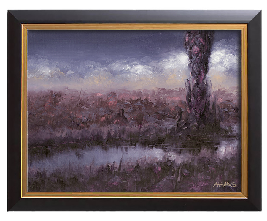 Arthur haas purple dusk framed small