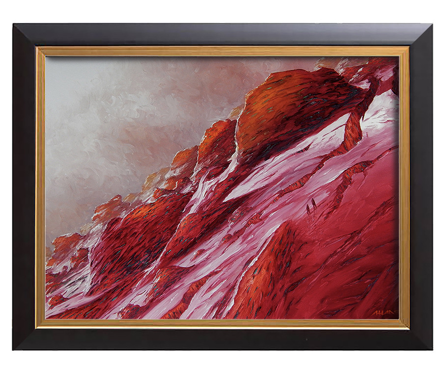 Arthur haas up red mountain framed small