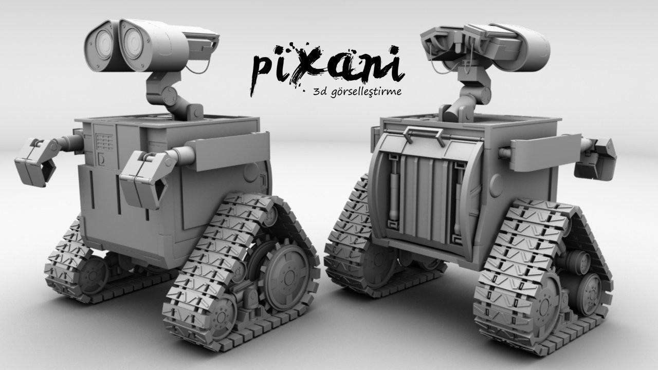 Wall-E 3D modeling  PIXANI STUDIOS