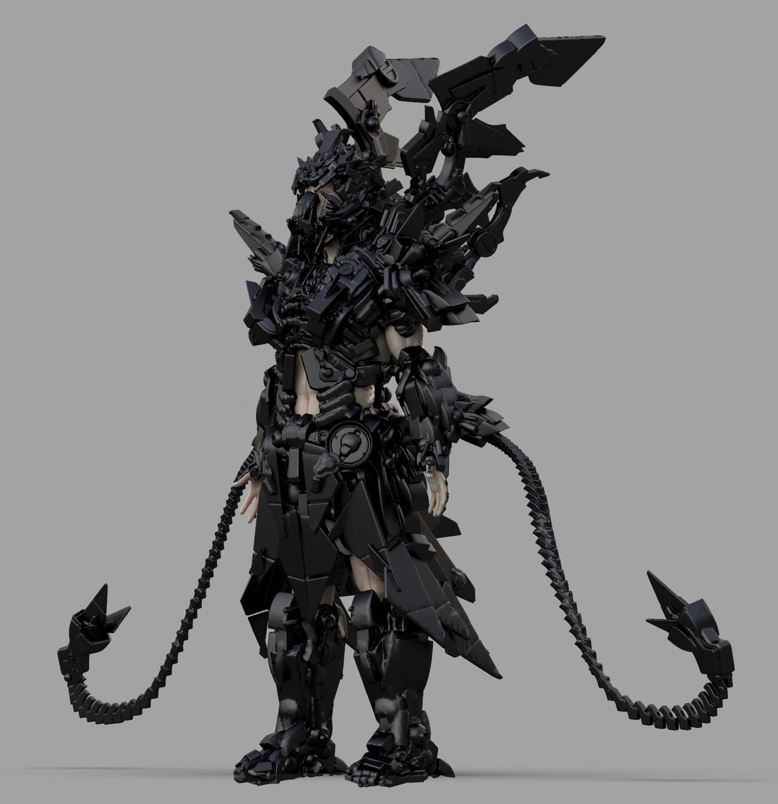 VR scifi character design / Oculus Medium