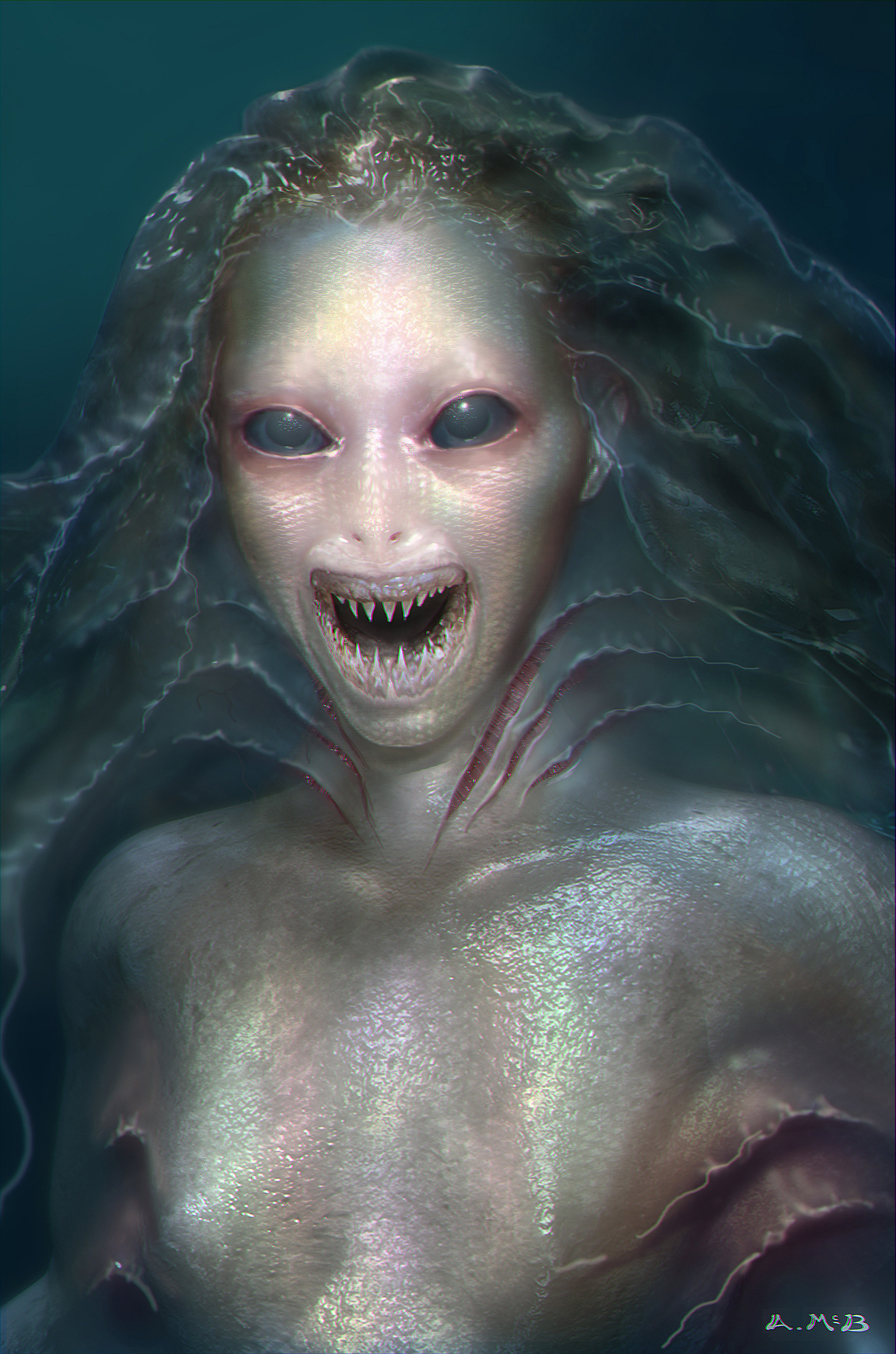 Aaron mcbride ugly mermaid version1a open mouth