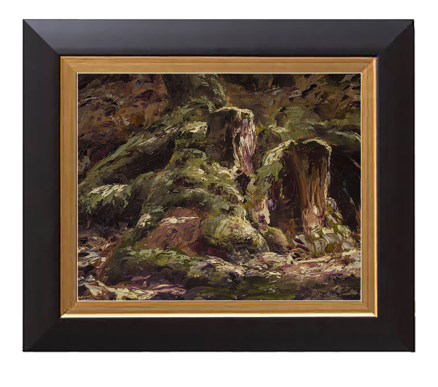 Arthur haas treestumps framed small