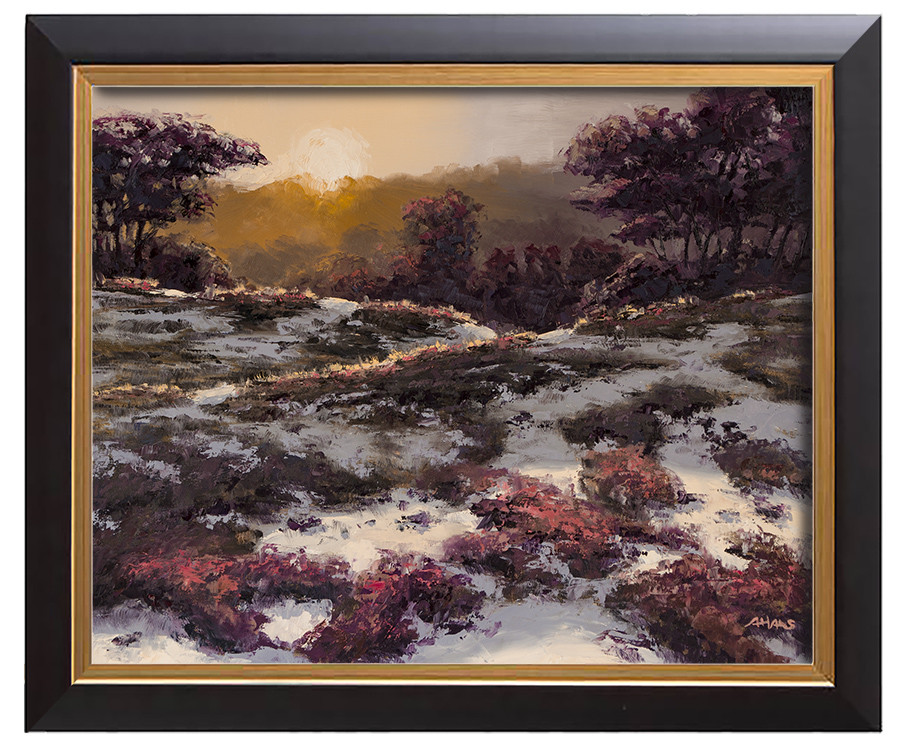 Arthur haas sundown on the heath framed small