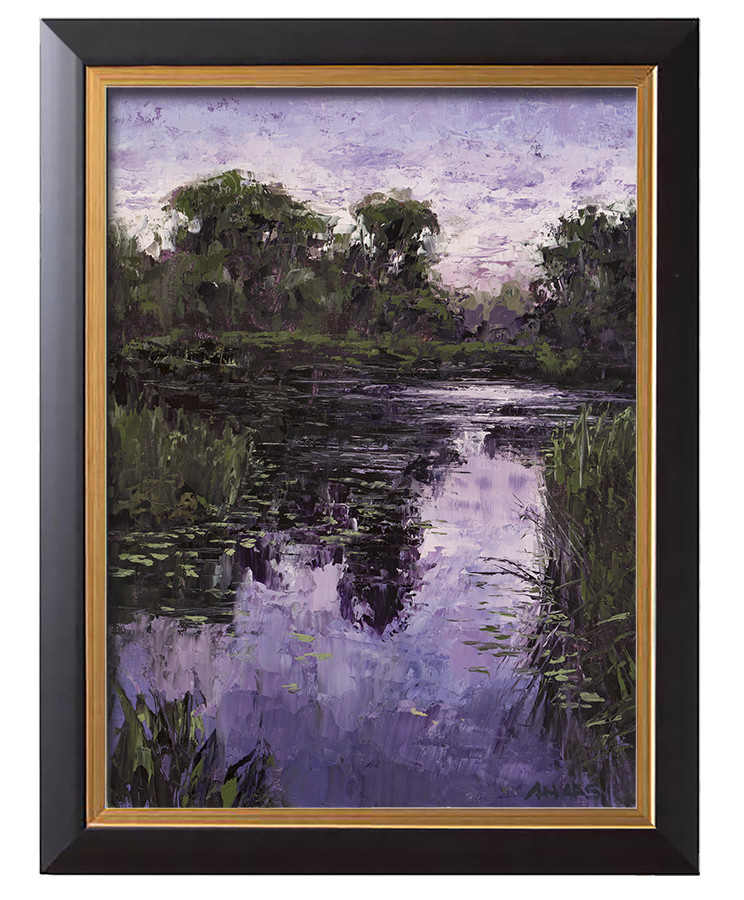 Arthur haas evening light framed small