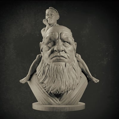 3D  sculpt based of a traditional sculpture by the awesome Daniel Marcondes