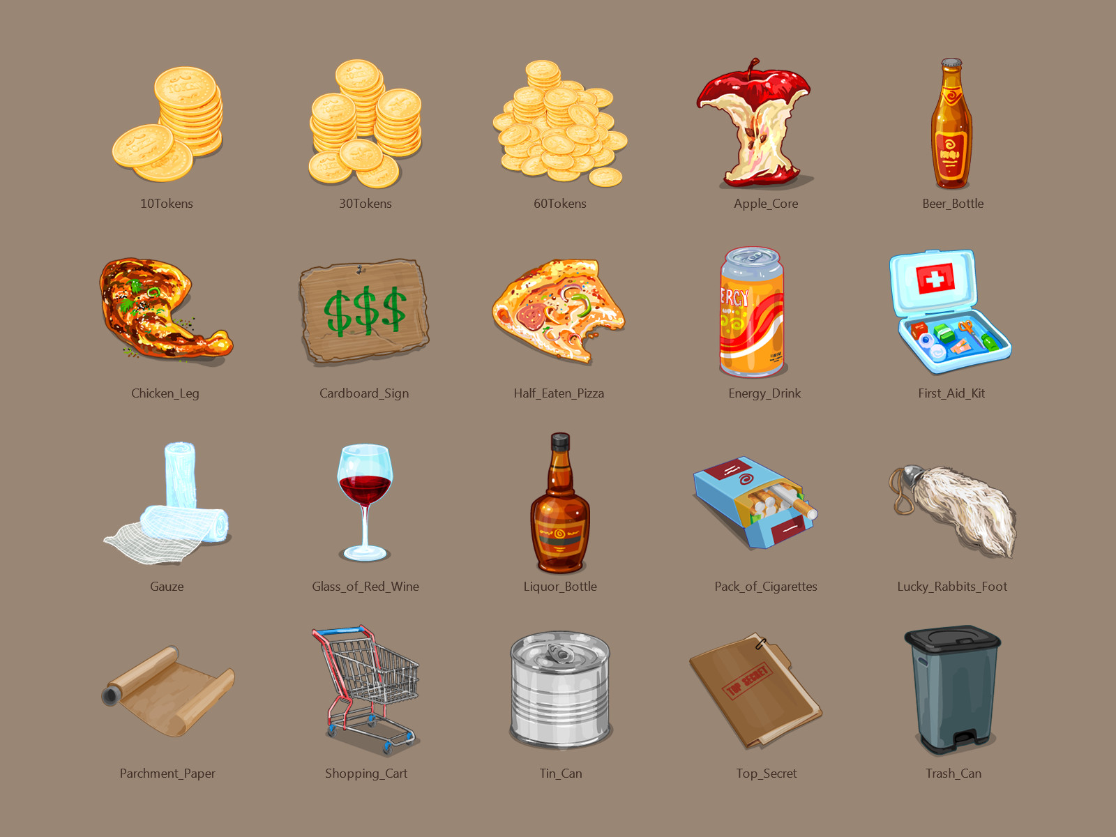 Vector Design of Game Icons