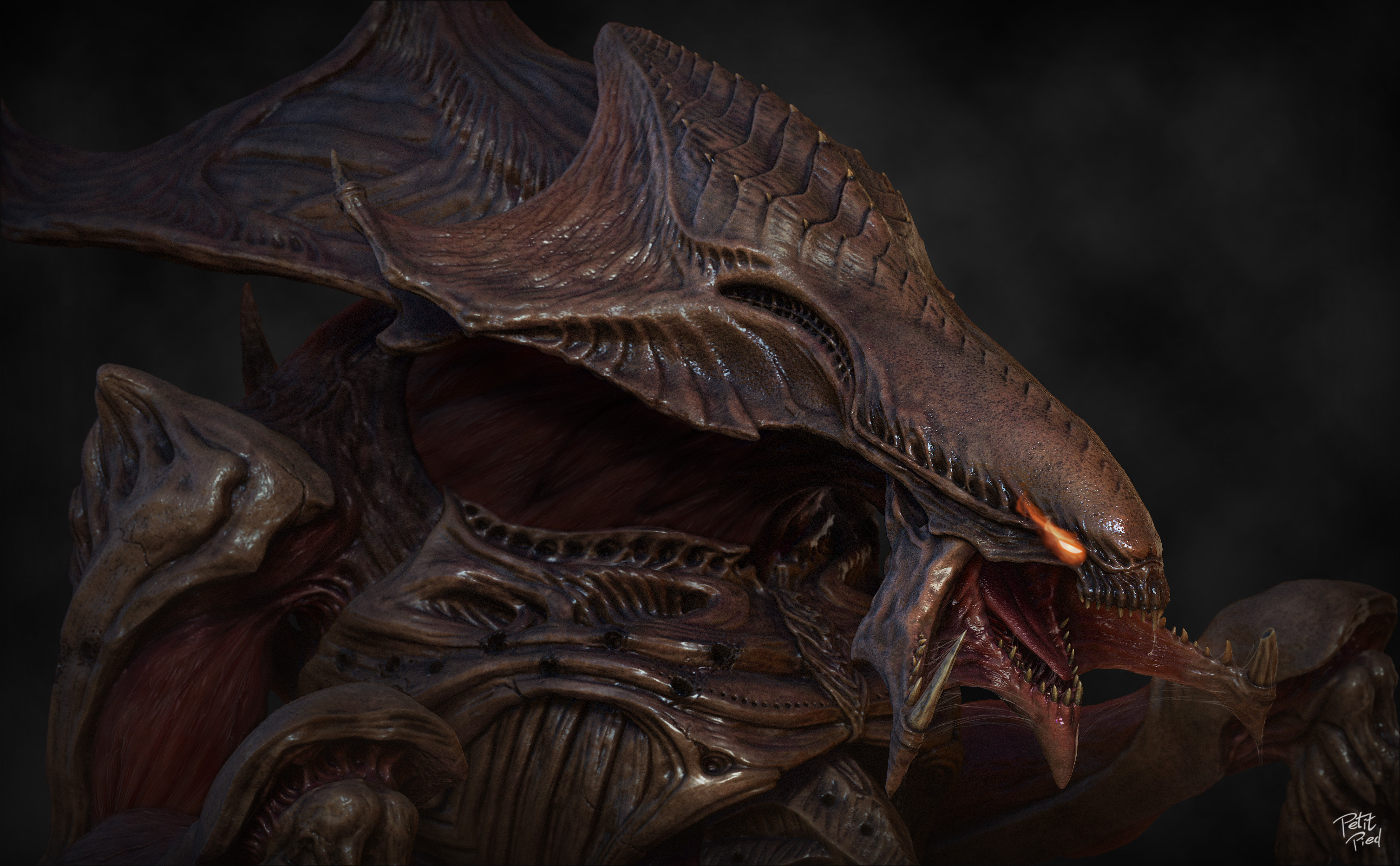 Hydralisk sculpt & render made in Zbrush and Photoshop
