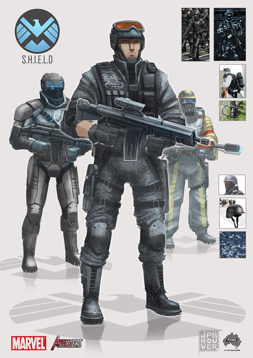 SHIELD personnel concepts