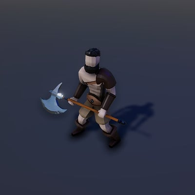 Asolid dev low poly warrior