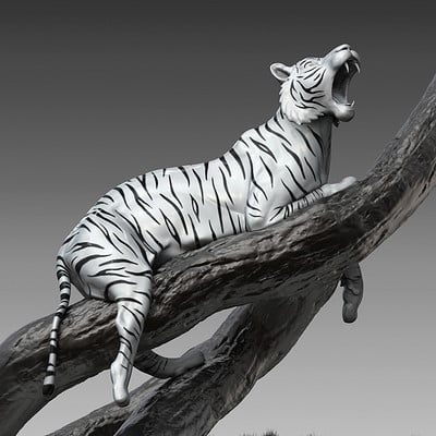 Jia hao tiger digitalsculpture 01