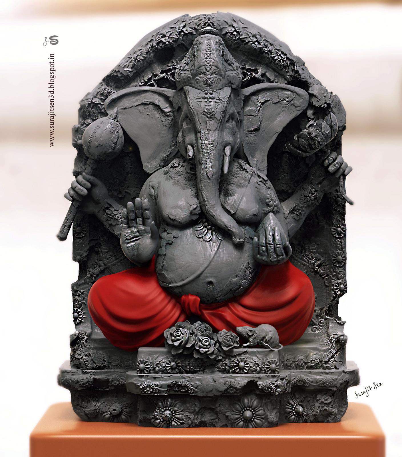 """I dedicate this Digital Sculpt """"Vinayaka"""" to Lord Ganapati."""