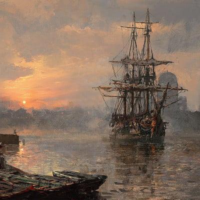 Greg rutkowski ship scene 2 1500