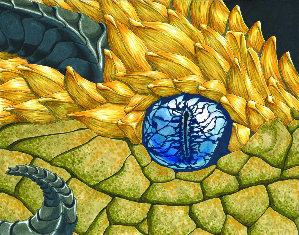 Artstation Gold Dragon Eye Greta Buis