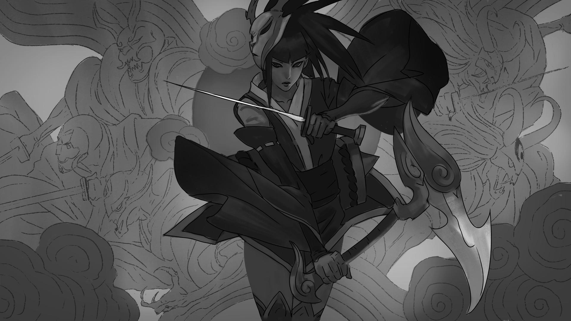Zeen chin blood moon akali sketch005