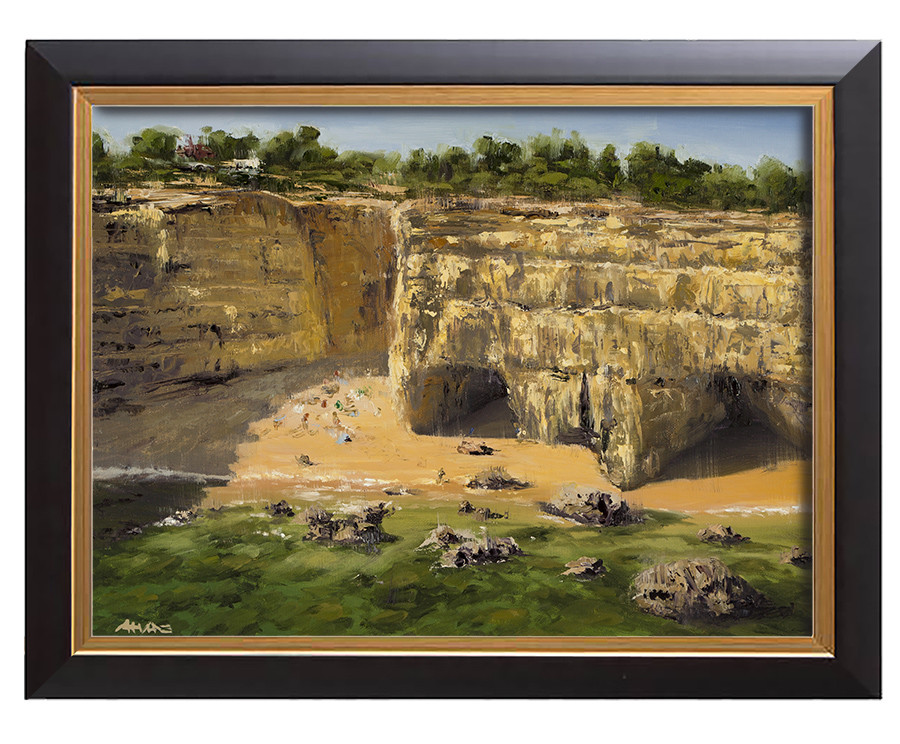 Arthur haas albandeira beach framed small