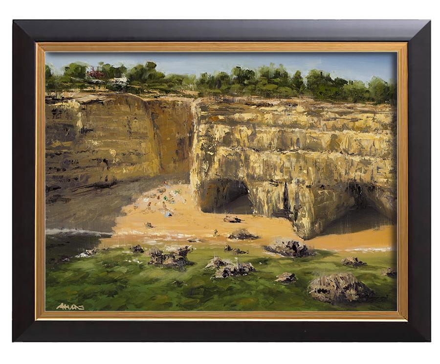 Arthur haas albandeira beach framed small