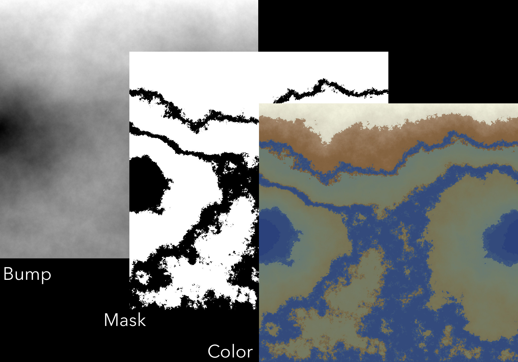 I used Mathematica to generate terrain maps for some of the planets. I used a diamond-square method, which I explain and provide a copy of the code on my blog.