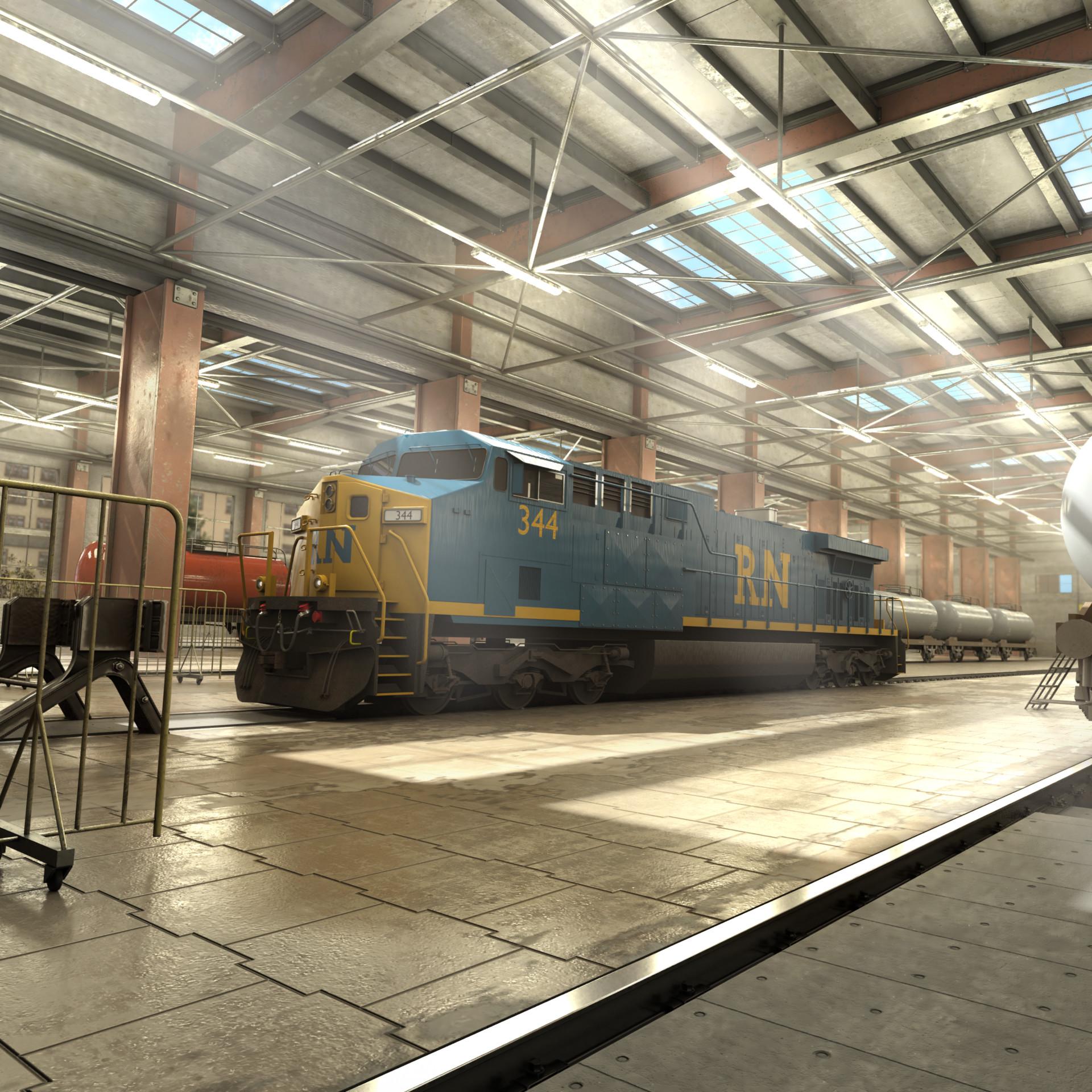ArtStation - Railnation Trainbuyscreen Project, Maximilian