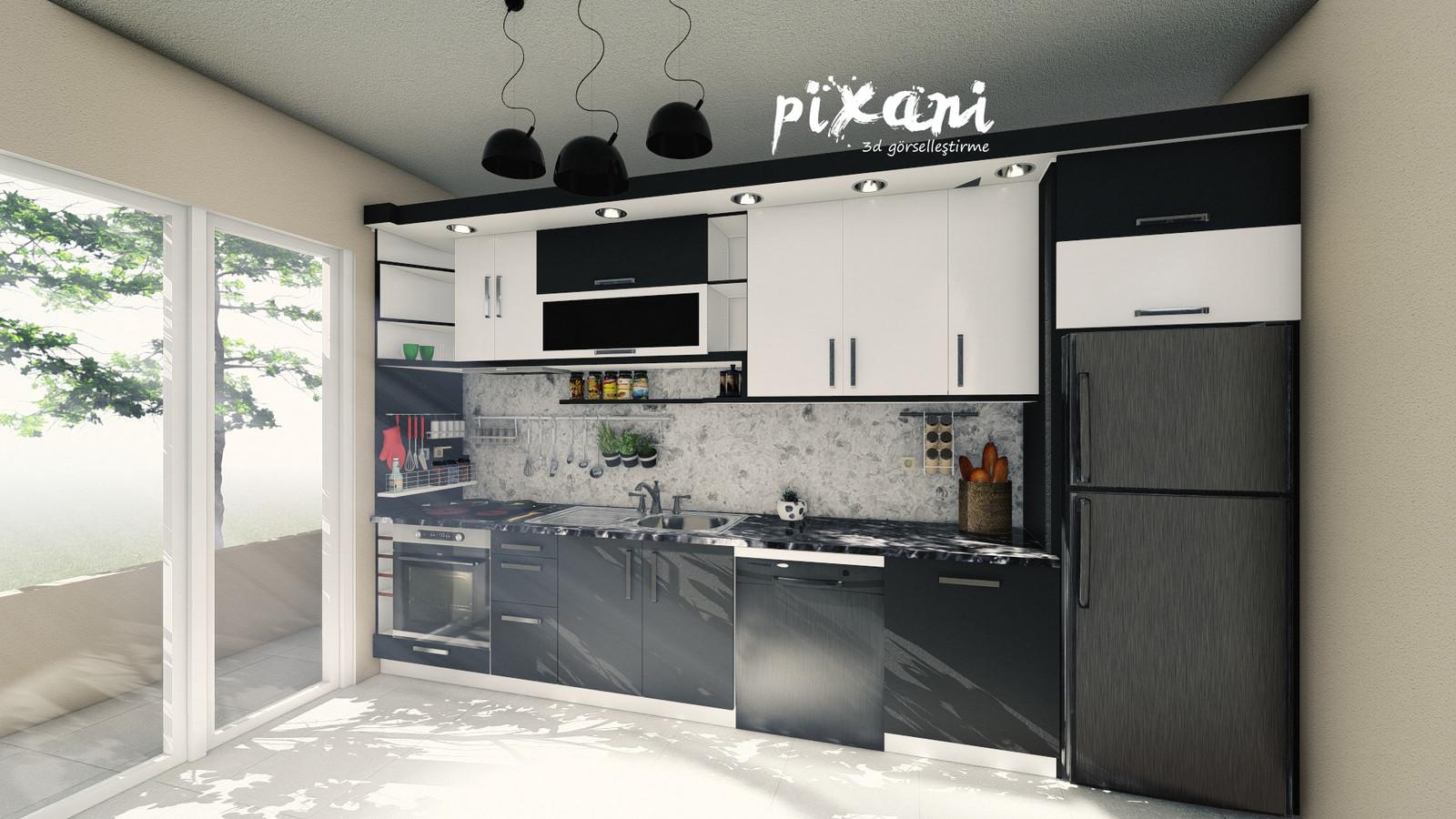 KITCHEN DESIGN 3 Architect & CG Artist : Serdar Çakmak rendered and designed in Pixani Studios www.pix-ani.com