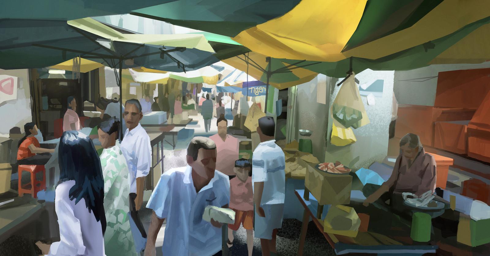 The Market - Pnom Penh (+steps)