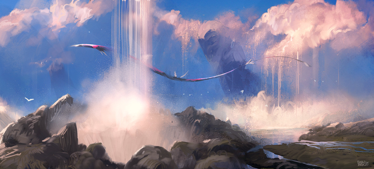 Cloud Waterfalls