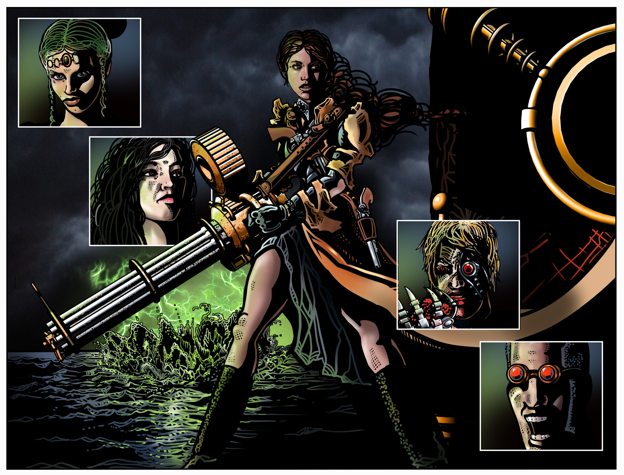 """""""… as she hoists the Gatling, a rogue's gallery of Sister Mercy's greatest enemies are left standing."""""""