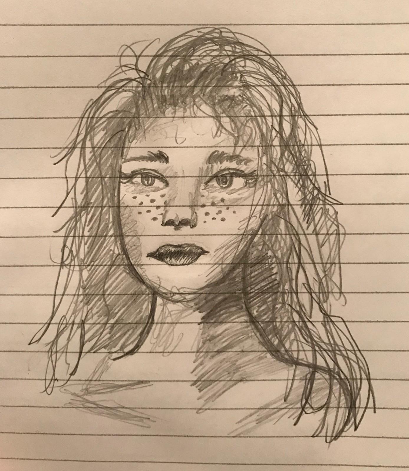 Stylized Female Head Sketch